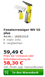 Kärcher Fensterreiniger WV 50 plus