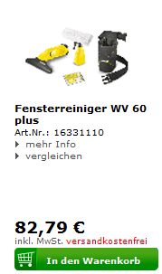 Kärcher Fensterreiniger WV 60 plus